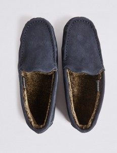 M&S Thin Moccasin Slippers with ThinsulateTM Was £25 Now £12.50