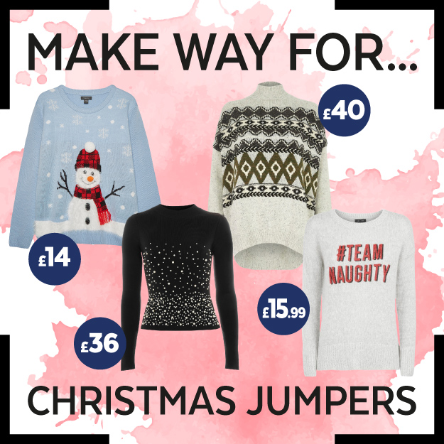 Get The Look – Christmas Jumpers