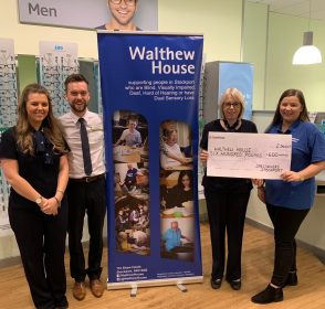 Stockport Opticians Donate Hundreds to Local Causes